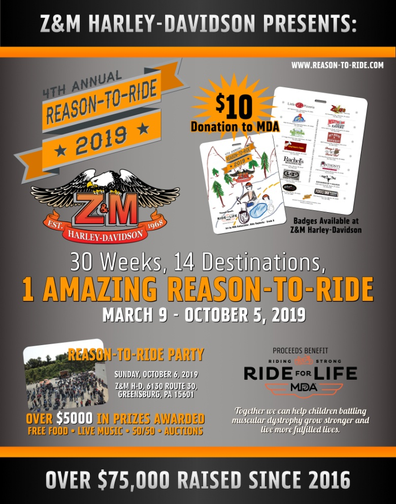 REason To Ride 2019 Advertisement Flyer